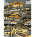 Night houses vector image