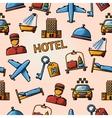 Seamless hotel handdrawn pattern vector image