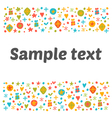 Cute postcard with floral design elements Funny vector image