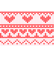 valentines stitch vector image vector image