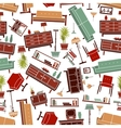 Home furniture seamless pattern background vector image vector image