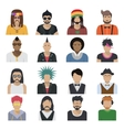 Avatar Characters Icon Set vector image vector image