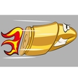 Angry funny bullet vector image