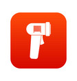 barcode scanner icon digital red vector image