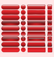 buttons red many for website design vector image