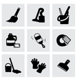 Clearning icon set vector image