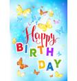 happy birthday backdrop vector image