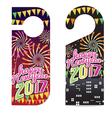 Happy New Year 2017 Door Hanger vector image