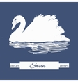 stylization swan for logo design vector image