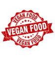 vegan food stamp sign seal vector image