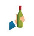 wine cup bottle vector image