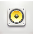 sound loud speaker icon vector image vector image