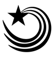 Vortex star icon simple style vector image vector image