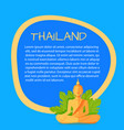 thailand touristic banner with sample text vector image