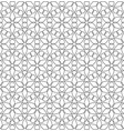 black and white seamless linear geometric pattern vector image