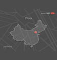 dotted china map vector image