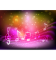 pink music background vector image vector image