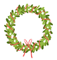 Mistletoe wreath isolated on white vector image vector image