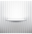 empty glamour shelf on the stripped grey vector image