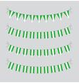 nigeria bunting vector image vector image