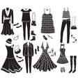 vector fashion clothes and accessories for weman f vector image