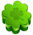Green closed gift box shape of quatrefoil leaf vector image