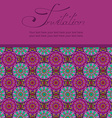 Invitation or card with Moroccan pattern vector image