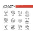 Human psychological problems- line design icons vector image