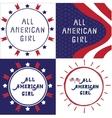 All American girl vector image