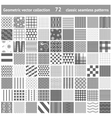 set of 72 geometric seamless patterns backgrounds vector image