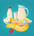 dairy products poster vector image