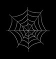 drawing on the theme of halloween white web on a vector image