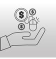 e-commerce onlne shopping icon vector image