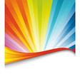 rainbow birthday banner vector image