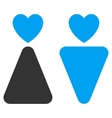 Lovers Flat Icon vector image