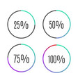 progress bar icons vector image