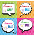 summer sale speech bubbles collection vector image