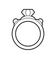 Sketch silhouette image diamond engagement ring vector image