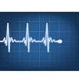 Abstract heart beats cardiogram EPS 10 vector image vector image