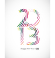 2013 and Happy New Year vector image vector image