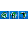 laughing earth planet comic story vector image vector image