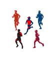 Marathon Runner Retro Collection vector image