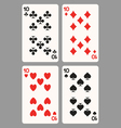 Playing cards ten vector image