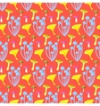 Spring forest mushroom seamless pattern vector image