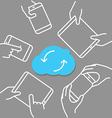 Modern cloud technology scheme technology concept vector image