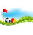 background for football soccer sport vector image