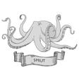 Octopus Hand drawn vector image