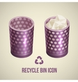 realistic recycle bin icon vector image