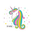 unicorn head vector image