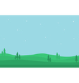 Nature landscape of silhouette for game backgro vector image
